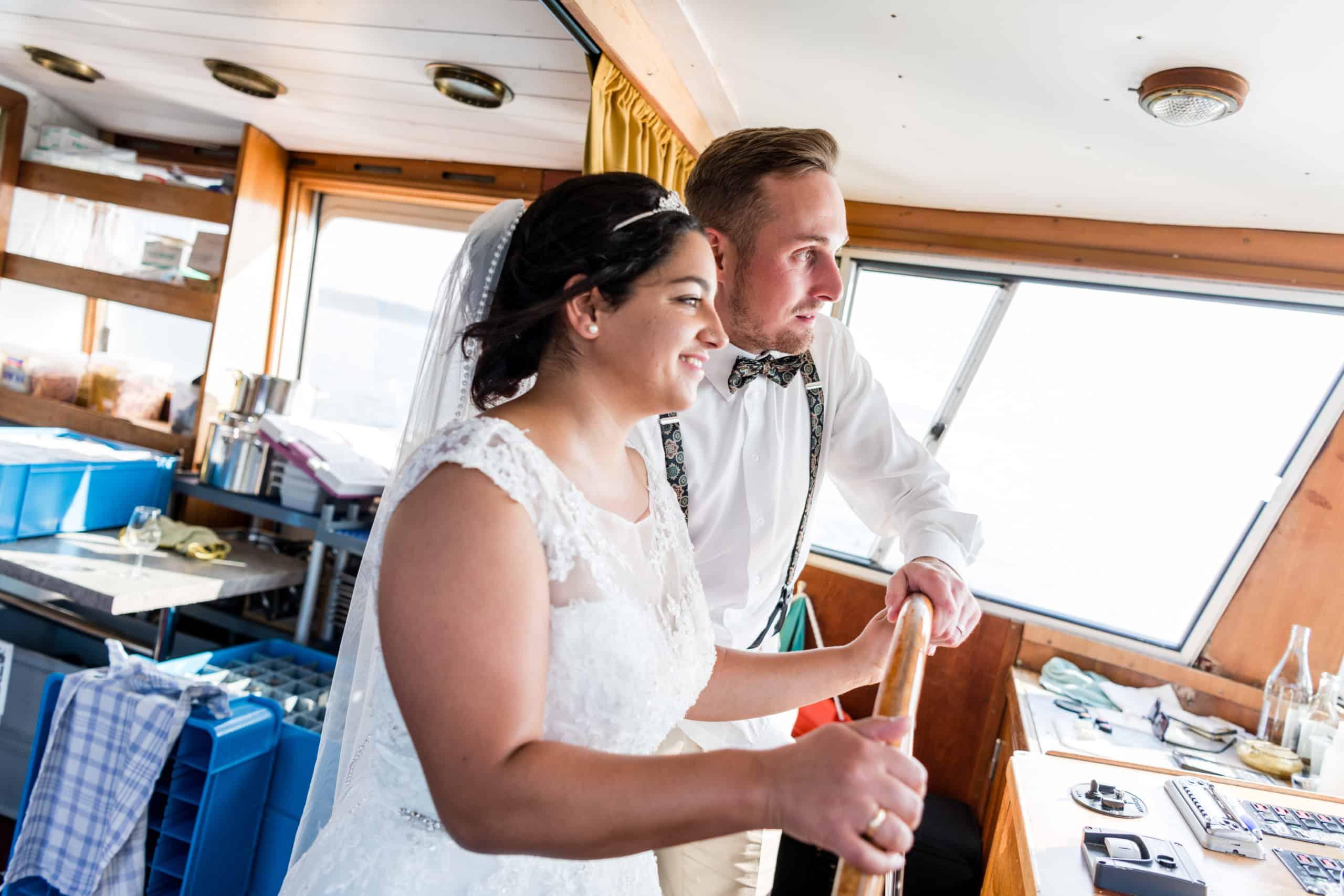 Brautpaar Schiff